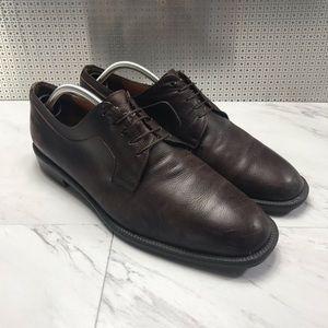 Salvatore Ferragamo Leather Lace Up Dress Shoes